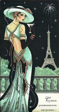 Art deco woman artworks New ideas Posters Vintage, Art Vintage, Art Deco Posters, Look Vintage, Retro Art, Vintage Ladies, Art Deco Artwork, Illustration Art Nouveau, Illustration Artists