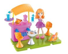 Polly Pocket Stick 'n' Play Lea Patio Party Playset by Mattel. $15.99. A great gift that any girl will love. Use with other Stick 'n' Play rooms to customize the ultimate house. Come hang out at Pollys house. Girls will love building and rearranging Pollys home. Includes 1 doll, room, furniture, and accessories. From the Manufacturer                Polly Pocket Stick 'n' Play Room Playset Collection: Why go out when it can be just as much fun to hang at Polly d...
