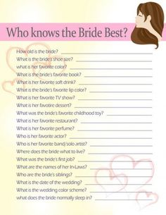 Bridal shower games can make or break a bridal shower.  Here are ten fun bridal shower games that will create a fun and memorable shower for the bride and the guests!