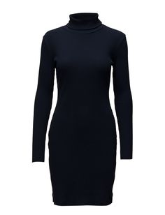 DAY - Colorama Solid Ribbed knit texture pattern Fitted silhouette Elegant and feminine Jumpsuit Dress, Textures Patterns, High Neck Dress, Feminine, Turtle Neck, Silhouette, Shoppa, Elegant, Knitting