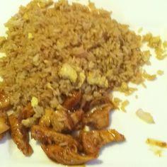 Teriyaki chicken and fried rice