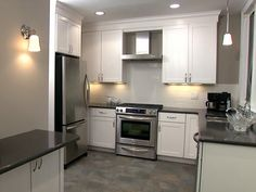 Kitchen flooring idea with white cabinets