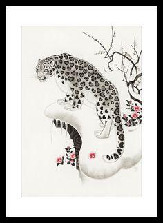 asian art cat snow leopard