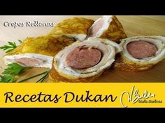Crepes Dukan saladas rellenas, de David (Ataque) / Dukan Diet Turkey Sau...