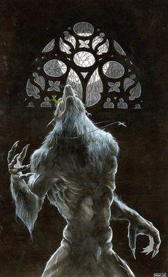Mythological Creatures, Fantasy Creatures, Mythical Creatures, Dark Fantasy Art, Dark Art, Wolf Warriors, Werewolf Art, Arte Robot, Vampires And Werewolves
