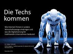 Die Techs kommen -  wie Internet-Firmen in andere Wirtschaftszweige eindringen