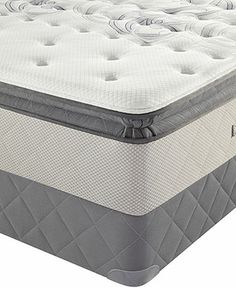 Sealy Posturepedic Bay Lane Euro Pillowtop Plush Queen Mattress Set - Queen Mattresses - mattresses - Macy's