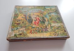 French Antique World Atlas Puzzle Set of 6 by Vintagefrenchlinens