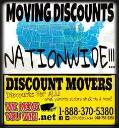 MOVING DISCOUNTS NATIONWIDE www.wemoveyouwin.net 18883705380