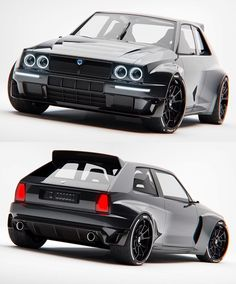 The all new Lancia Delta Integrale Lancia Delta, Custom Muscle Cars, Custom Cars, Concept Motorcycles, Cars And Motorcycles, Carros Suv, Futuristic Cars, Unique Cars, Modified Cars