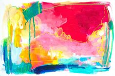 Flex zone by Amira Rahim, acrylic mixed media painting on paper for sale by Kellee Wynne Studios, SOLD