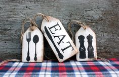 Rustic Signs Distressed & Vintage Inspired by TheUnpolishedBarn Rustic Cabin Decor, Rustic Wood Signs, Kitchen Signs, Kitchen Decor, Kitchen Vinyl, Kitchen Wood, Door Tags, Wooden Tags, Bulletins