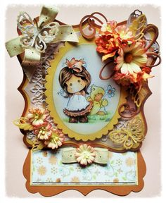 Magnolia Tilda Easel card decoupage any occasion