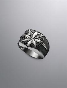Men's Diamond & Sterling Silver Rings   Men's Jewelry   David Yurman