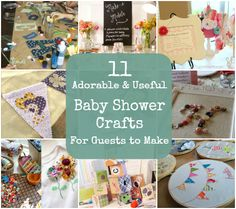 11 Adorable and Useful Baby Shower Crafts For Guests to Make *** love the bunting and alphabet ones