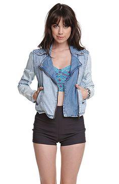 Volcom Contrast Sleeve Moto Jacket at PacSun.com