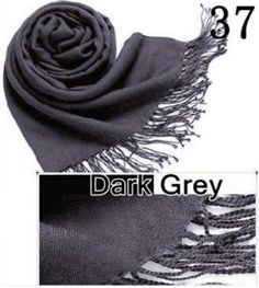HiiBabyTop Quality Hot Sale Ladies Pashmina Shawl Hijab Scarf Huge Range Wrap 40Colors Dark Grey 37 ** Be sure to check out this awesome product.