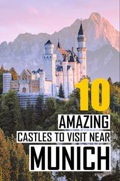 The 10 best castles near Munich, Germany. A detailed travel guide written by a local with the best p Bonn Germany, Visit Germany, Germany Travel, Trip To Germany, Visit Munich, Visit Austria, Europe Travel Guide, Europe Destinations, Budget Travel