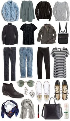 A Travel Capsule Wardrobe: Your Ultimate Packing List - Your ultimate packing list for traveling light to Europe in the Spring? Create a travel capsule wardrobe. Click through to read! Source by Kinalinas - Travel Outfit Summer Airport, Travel Wardrobe Summer, Winter Wardrobe, Vacation Wardrobe, Europe Spring, Winter Europe, London Winter, Packing List For Travel, Packing Lists