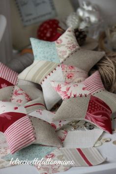patchwork stars whit vintage fabrics