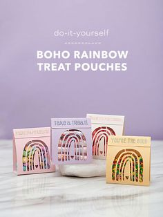 Use your Cricut to cut and make these adorable boho rainbow treat pouches! Unique Wedding Favors, Unique Weddings, Real Weddings, Our Wedding, Wedding Ideas, Rainbow Treats, Creative Wedding Inspiration, Wedding Planning Guide, Pouches