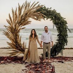 The beach, the backdrop, that glittering gown! Does this look like a dream setting to you? They wanted an intimate day with a mix of boho meets glam styling.and my goodness, did it turn out DREAMY! See more of their blissful beach wedding Wedding Trends, Fall Wedding, Wedding Ceremony, Rustic Wedding, Bohemian Beach Wedding, Wedding Ideas, Wedding Favors, Beach Ceremony, Craft Wedding