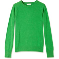Equipment Fern Green Sloane Crew Neck Cashmere Jumper ($385) ❤ liked on Polyvore