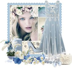 """""""Blue orchids"""" by albaor on Polyvore"""
