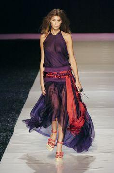 Emanuel Ungaro at Paris Fashion Week Spring 2005 - Runway Photos Paris Fashion, Tie Dye Skirt, Runway, Pictures, Photos, Spring, Skirts, Cat Walk, Skirt