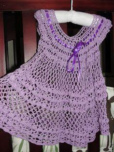Crochet summer baby dress