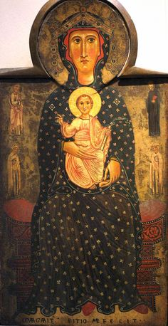 Madonna and child enthroned, 1217