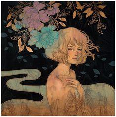 El inocente y erótico arte de Audrey Kawasaki