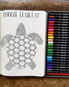 by @bujopassion Bullet Journal Collection: Track Your Moods with a Bullet Journal