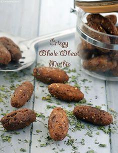Crispy Whole Wheat Muthia, Jar Snack recipe Tofu Recipes, Indian Food Recipes, Vegetarian Recipes, Snack Recipes, Cooking Recipes, Chicken Recipes, Dry Snacks, Yummy Snacks, Kitchens
