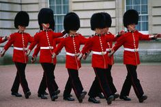 The changing of the guards at Buckingham Palace--London