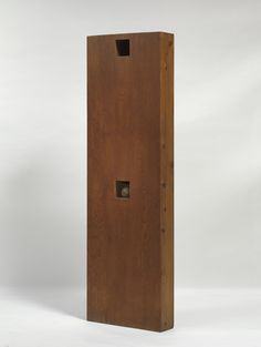 Walter De Maria - Ball Drop, 1961. Plywood box, pencil, and wood ball, 76 1/4 × 24 × 6 3/8 inches (193.7 × 61 × 16.2 cm), edition of 6. Solomon R. Guggenheim ...