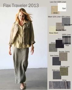 Flax Traveler 2013 at Tender Treasures. Flax Linen Clothing. Large inventory in stock!