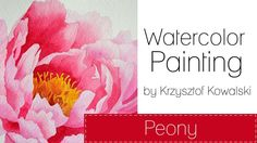 Watercolor painting - Peony