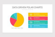 Data Driven Polar Charts PowerPoint Template | Nulivo Market Color Themes, Charts, Templates, Marketing, Graphics, Stencils, Graph Of A Function, Vorlage, Models
