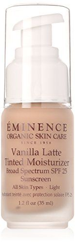 Eminence Vanilla Latte Tinted Moisturizer SPF 25 -- Check out the image by visiting the affiliate link Amazon.com on image. Organic Skin Care Lines, All Natural Skin Care, Natural Makeup, Skin Care Spa, Facial Skin Care, Moisturizer For Dry Skin, Tinted Moisturizer, Scar Removal Cream, Best Face Products