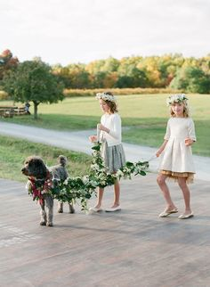 Ok, how cute is this? http://www.stylemepretty.com/2015/10/15/romantic-bohemian-chic-millers-nursery-wedding/ | Photography: Lacie Hansen - http://laciehansen.com/