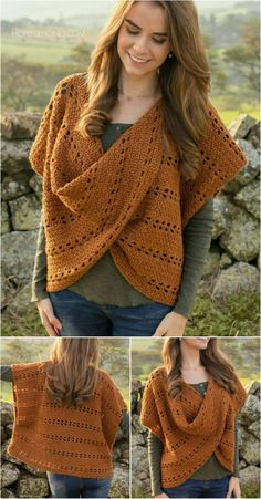 Si o si tejo Pull Crochet, Crochet Jumper, Crochet Jacket, Crochet Cardigan, Crochet Top, Crochet Crafts, Crochet Yarn, Crochet Projects, Knitting Patterns