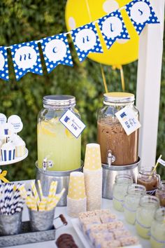 Lemonade + Iced Coffee Stand!!  What a great idea from  Tom Kat Studio