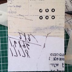 Very small collage, about business card size. Mixed media on panel. #collage #otherstuffido #paper #printmaking #pigeonroof #pigeonroofstudi...