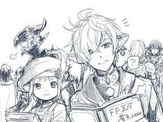 """黒洲さんのツイート: """"FF14絵 ht"""