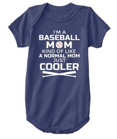 Baseball Mom Kids Shirt Navy  T-Shirt Front