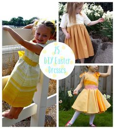 Pick out the prettiest springtime fabrics and click through to find the perfect Easter dress and tutorial for a little girl.