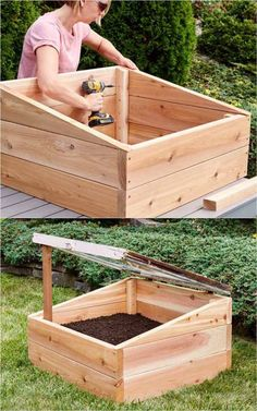 45 BEST tutorials free building plans & ideas on how to build easy DIY greenhouses simple cold frames garden tunnels & hoops with low cost materials! An ultimate guide! - A Piece of Rainbow gardening homestead backyard ideas winter spring Veg Garden, Vegetable Garden Design, Garden Beds, Diy Greenhouse Plans, Greenhouse Gardening, Homemade Greenhouse, Cold Frame Gardening, Urban Gardening, Jardin Decor