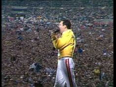 """""""Visions of one sweet union"""" QUEEN: One Vision - Music VIDEO Live 1986"""