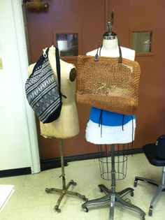 possible bags for Lauren and Theresa.  Black for Lauren, wicker for Theresa